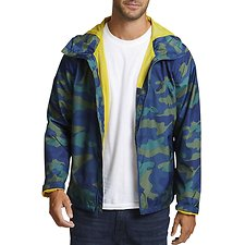 Image of Nautica ENSIGN BLUE CAMO AND ANCHOR FULL-ZIP JACKET