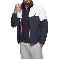 Image of Nautica NAVY LIGHT WEIGHT COLORBLOCK WINDBREAKER