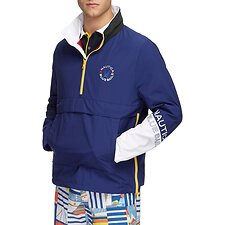 Image of Nautica BLUE DEPTHS Blue Sail Accent Pull Over Windbreaker