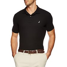 Image of Nautica TRUE BLACK SHORT SLEEVE PERFORMANCE DECK POLO SHIRT