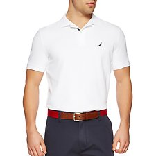 Image of Nautica BRIGHT WHITE SHORT SLEEVE PERFORMANCE DECK POLO SHIRT