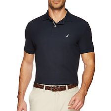 Image of Nautica NAVY SHORT SLEEVE PERFORMANCE DECK POLO SHIRT