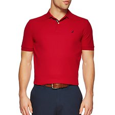 Image of Nautica NAUTICA RED SHORT SLEEVE PERFORMANCE DECK POLO SHIRT
