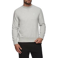 Image of Nautica GREY HEATHER J CLASS CREW NECK SWEATER