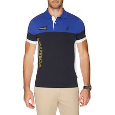 Image of Nautica BRIGHT COBALT SHORT SLEEVE HERITAGE POLO