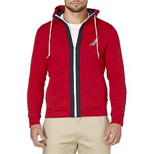 Picture of COLOUR CONTRAST FULL ZIP STRIPE HOODIE