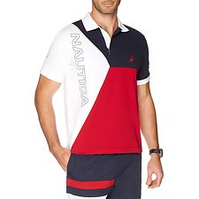Picture of HERITAGE BLOCKED LOGO SHORT SLEEVE POLO