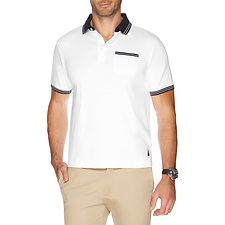 Picture of CONTRAST SOLID INTERLOCK POLO