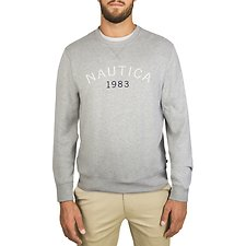 Image of Nautica GREY HTHR NAUTICA 1983 CREW NECK SWEATSHIRT