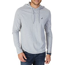 Image of Nautica GREY HTHR J-CLASS HOODED T-SHIRT