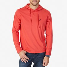 Image of Nautica SAILOR RED J-CLASS HOODED T-SHIRT