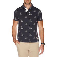 Image of Nautica TRUE NAVY VINTAGE SAIL PRINT POLO