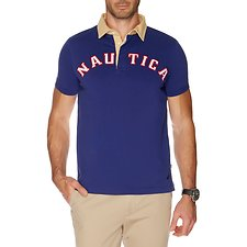 Image of Nautica BLUE DEPTHS SHORT SLEEVE LOGO POLO