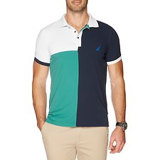 Image of Nautica TRUE NAVY SHORT SLEEVE TRIBLOCK POLO
