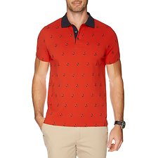 Image of Nautica CAPE RED SS ALLOVER CRITTER POLO
