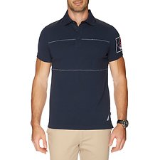 Image of Nautica TRUE NAVY SS  SHOULDER POLO