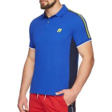 Image of Nautica MONACO BLUE Mesh Panel short sleeve Tape Polo