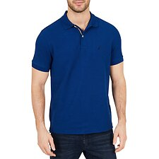 Image of Nautica BRIGHT COBALT SHORT SLEEVE CLASSIC FIT DECK POLO
