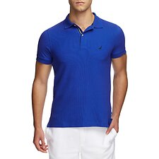 Image of Nautica BRIGHT COBALT SHORT SLEEVE PERFORMANCE TECH POLO SHIRT