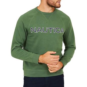 Image of Nautica  NAUTICA EMBROIDED CREW NECK SWEATER