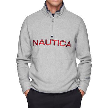 Image of Nautica  NAUTEX CONTRAST POINT QUART-ZIP FLEECE