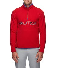 Image of Nautica NAUTICA RED NAUTEX CONTRAST POINT QUART-ZIP FLEECE