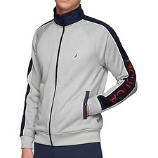 Image of Nautica GREY HEATHER NAUTICA RETRO PIPPED TRACK