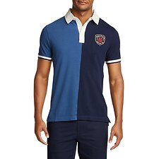 Image of Nautica ENSIGN BLUE CLRBLK VARSITY POLO