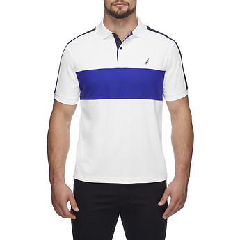 Image of Nautica  HERITAGE BLOCKED NAVTECH POLO SHIRT
