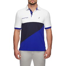 Image of Nautica BRIGHT WHITE NAVTECH SIGNAL BLOCKED  POLO