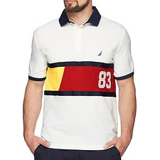 Image of Nautica MARSHMELLOW N83 PERFORMANCE SHORT SLEEVE POLO