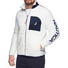 Image of Nautica MARSHMELLOW NAUTICA FULL ZIP POCKET SHERPA