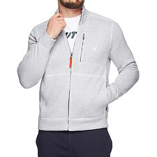 Image of Nautica BRIGHT WHITE THE ZIP SWEATER FLEECE JACKET