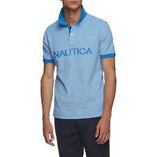 Image of Nautica CAPRI BLUE KAILUA LOGO SHORT SLEEVE POLO