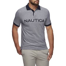 Image of Nautica NAVY KAILUA LOGO SHORT SLEEVE POLO