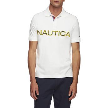 Image of Nautica  KAUAI LOGO PANEL SHORT SLEEVE POLO