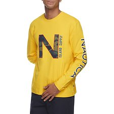 Image of Nautica EMPIRE GOLD URBAN ISLAND LONG SLEEVE TEE