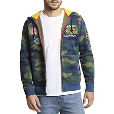 Image of Nautica ENSIGN BLUE URBAN JUNGLE FULL ZIP POP HOOD