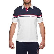 Image of Nautica BRIGHT WHITE THE SPORT LOGO POLO SHIRT