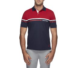 Image of Nautica NAVY THE SPORT LOGO POLO SHIRT