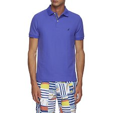 Image of Nautica COBALT WAVE SOLID FCA SLIM FIT POLO