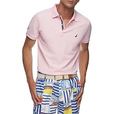 Image of Nautica CRADLE PINK SOLID FCA SLIM FIT POLO