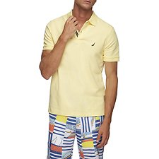 Image of Nautica FRENCH VANILLA SOLID FCA SLIM FIT POLO