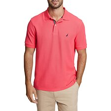 Image of Nautica MELON BERRY SOLID CLASSIC FIT DECK POLO SHIRT