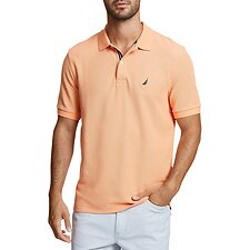 Image of Nautica GUAVA PUNCH SOLID CLASSIC FIT DECK POLO SHIRT