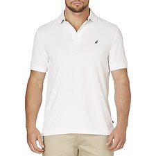 Image of Nautica BRIGHT WHITE Short Sleeve Solid Polo