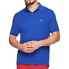 Image of Nautica MONACO BLUE Short Sleeve Solid Polo