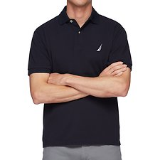 Image of Nautica NAVY Short Sleeve Solid Polo