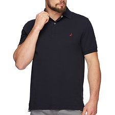 Image of Nautica TRUE NAVY Short Sleeve Solid Polo