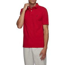 Image of Nautica FLARE RED Short Sleeve Solid Polo